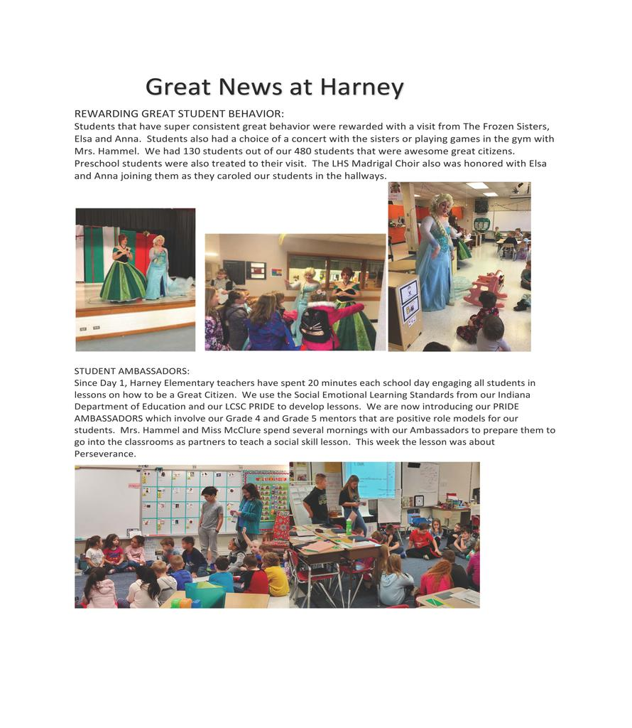 GREAT NEWS AT HARNEY