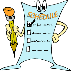 schedules pwe daily schedule
