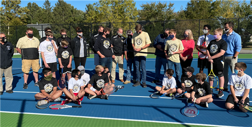LMS, LHS Celebrate Tennis Facilities